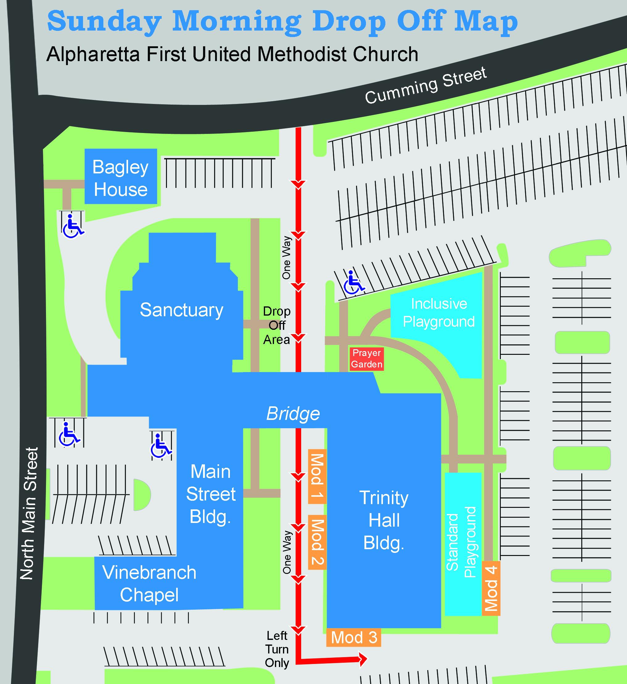 Maps Directions Alpharetta First UMC